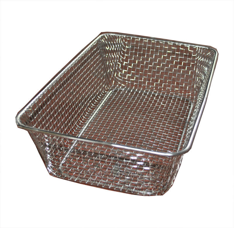Food grade Woven Wire Metal Wire Basket , Stainless Steel Wire Mesh ...