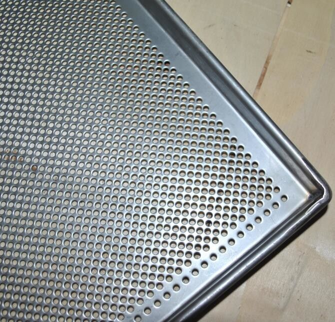 Metal Perforated Baking Serving Tray For Oven Stainless