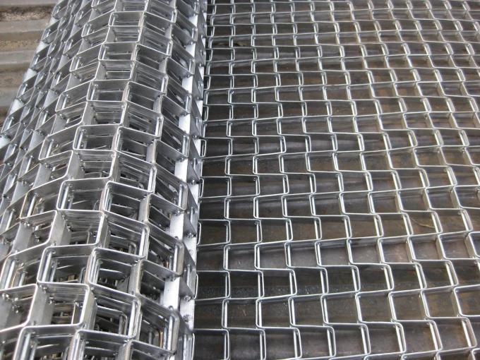 Food Grade Wire Mesh Conveyor Belt Honeycomb Flat Strip Belt