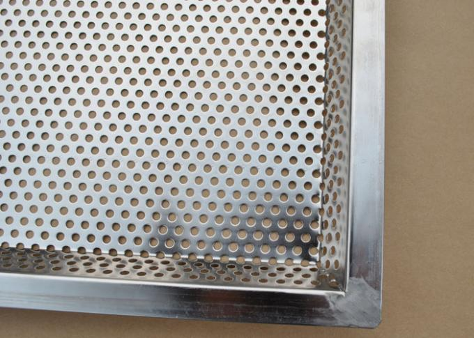 600 400mm 5mm Hole Stainless Steel Perforated Baking Tray